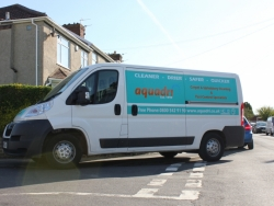 Brand new Aquadri van ready for cleaning action in Bristol and Bath