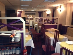 Bristol Indian restaurant with clean chairs and carpets